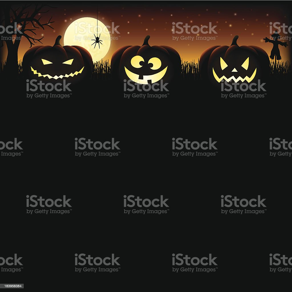 Halloween pumpkin Background royalty-free stock vector art