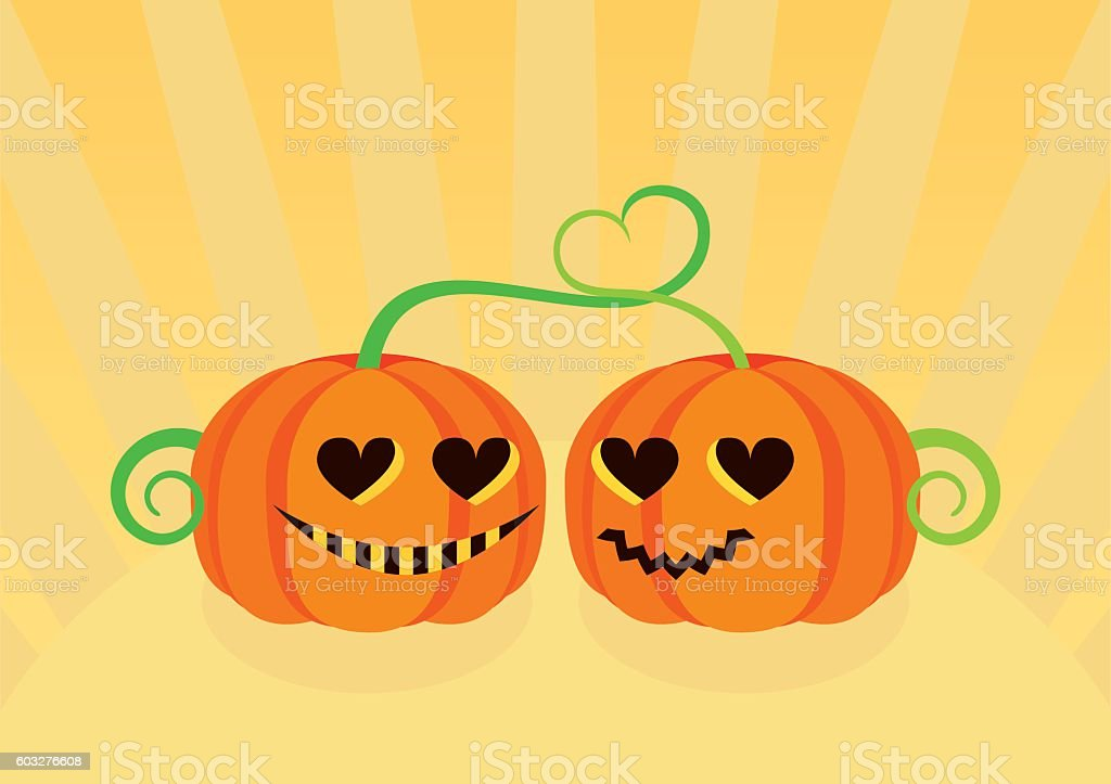 Halloween pumpkin cartoon vector art illustration
