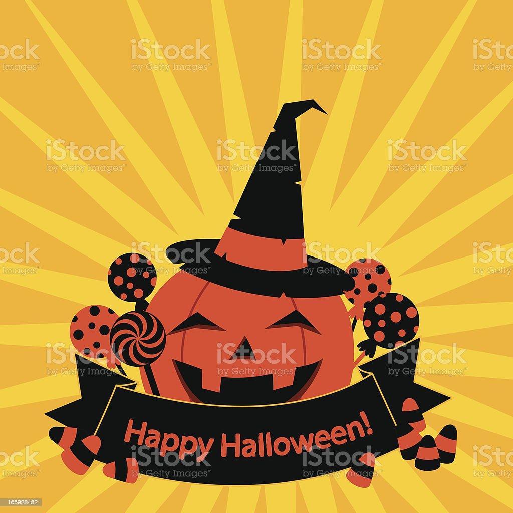 Halloween Pumpkin Greetings royalty-free stock vector art