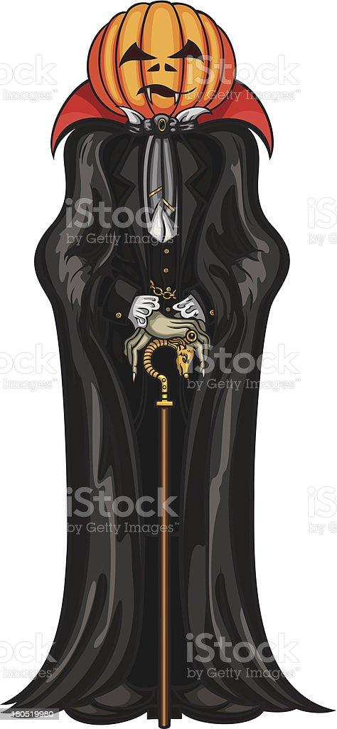 Halloween Pumpkin Head Vampire royalty-free stock vector art