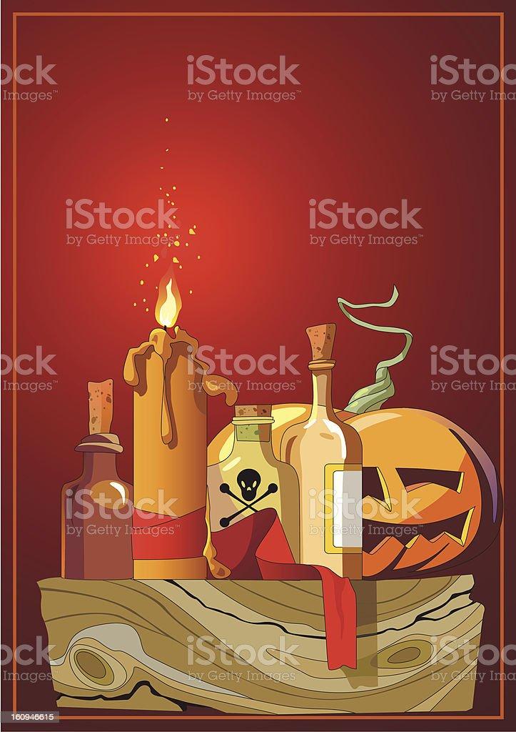 Halloween. Pumpkin head royalty-free stock vector art