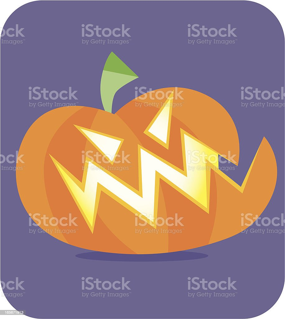 Halloween Pumpkin - Only 1 Credit royalty-free stock vector art
