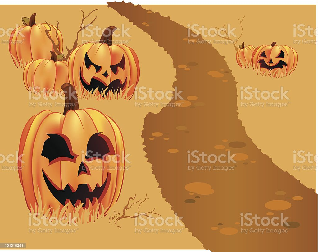 Halloween Pumpkin Patch royalty-free stock vector art