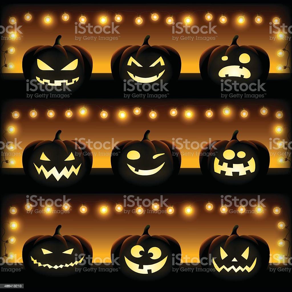 Halloween pumpkin vector art illustration