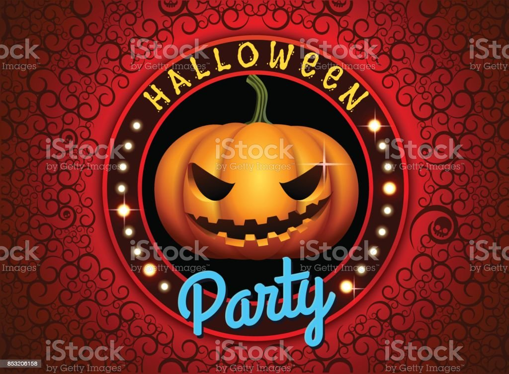halloween pumpkin vector illustration vector art illustration