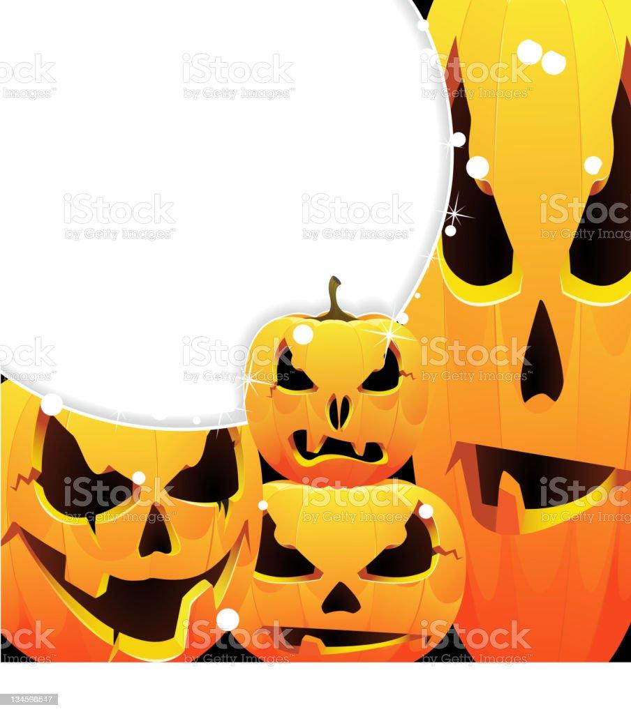 halloween pumpkins jack-o-lanterns royalty-free stock vector art