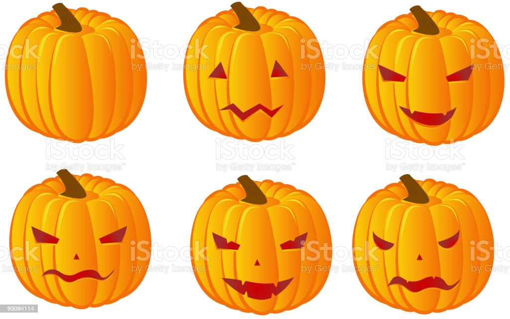Halloween pumpkins variation royalty-free stock vector art