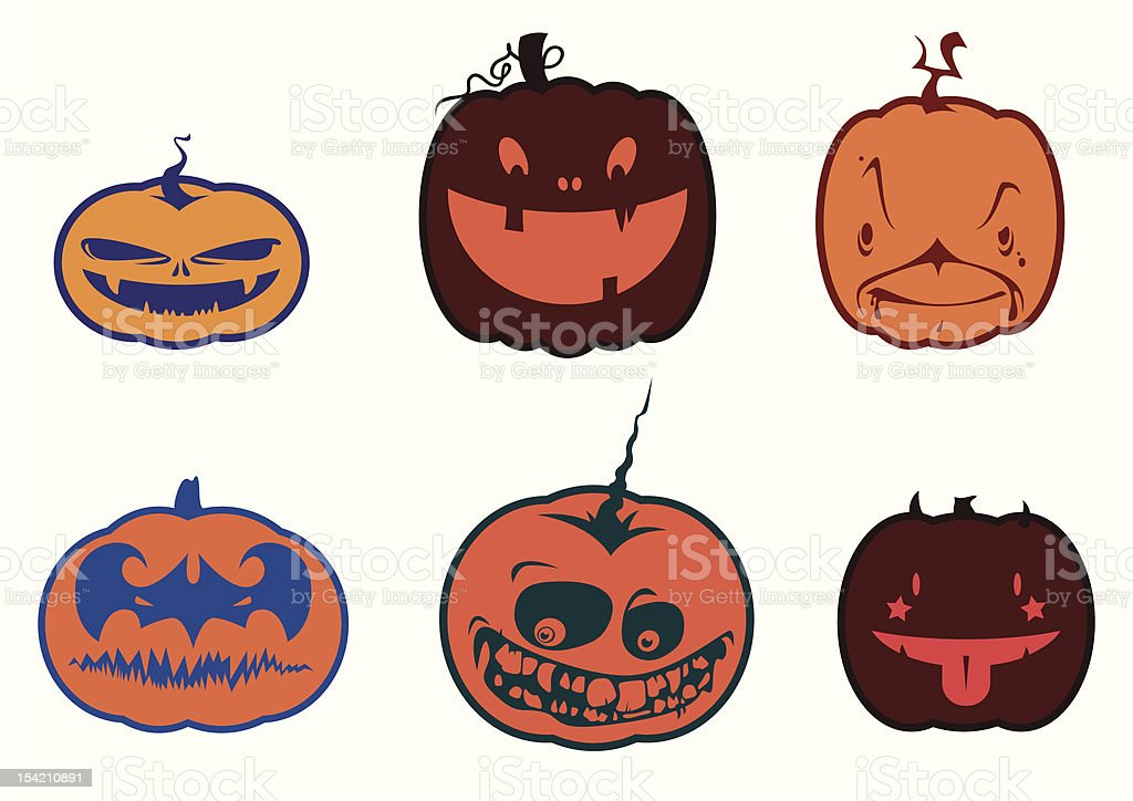 Halloween pumpkins royalty-free stock vector art