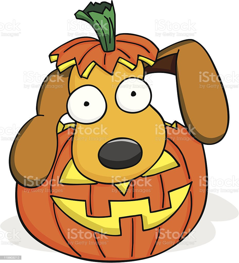 Halloween Puppy royalty-free stock vector art