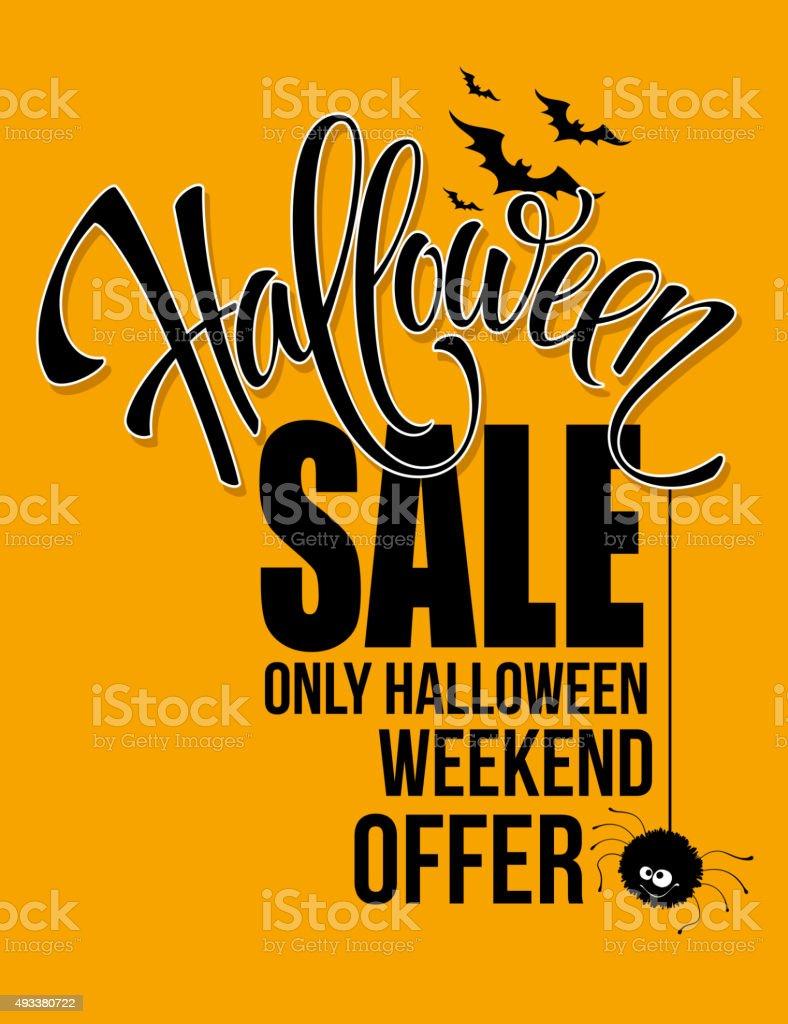 Halloween sale. Happy holiday. Vector illustration vector art illustration