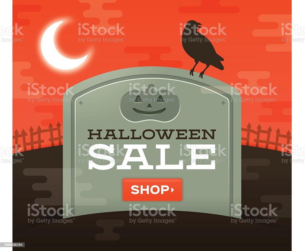 Halloween Sale vector art illustration