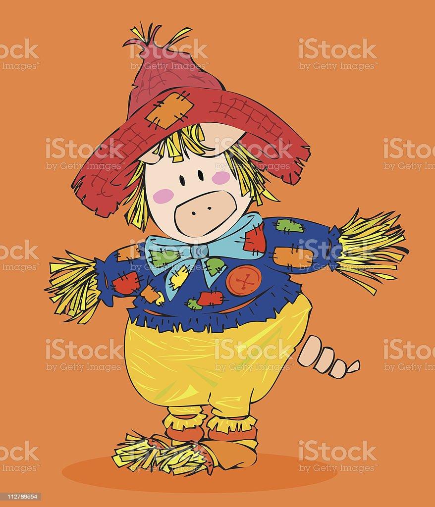 Halloween Scarecrow. royalty-free stock vector art