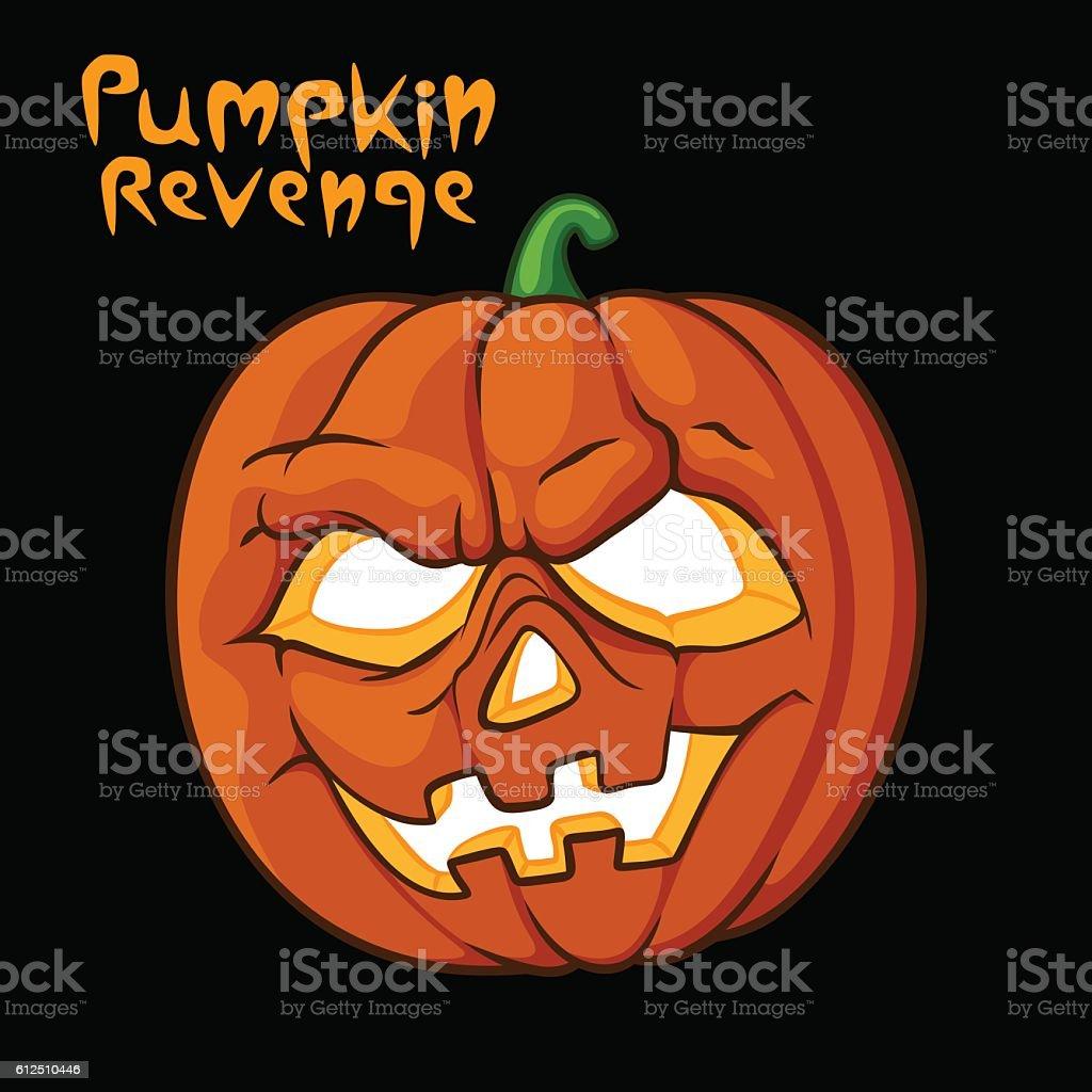 Halloween scary pumpkin vector illustration vector art illustration