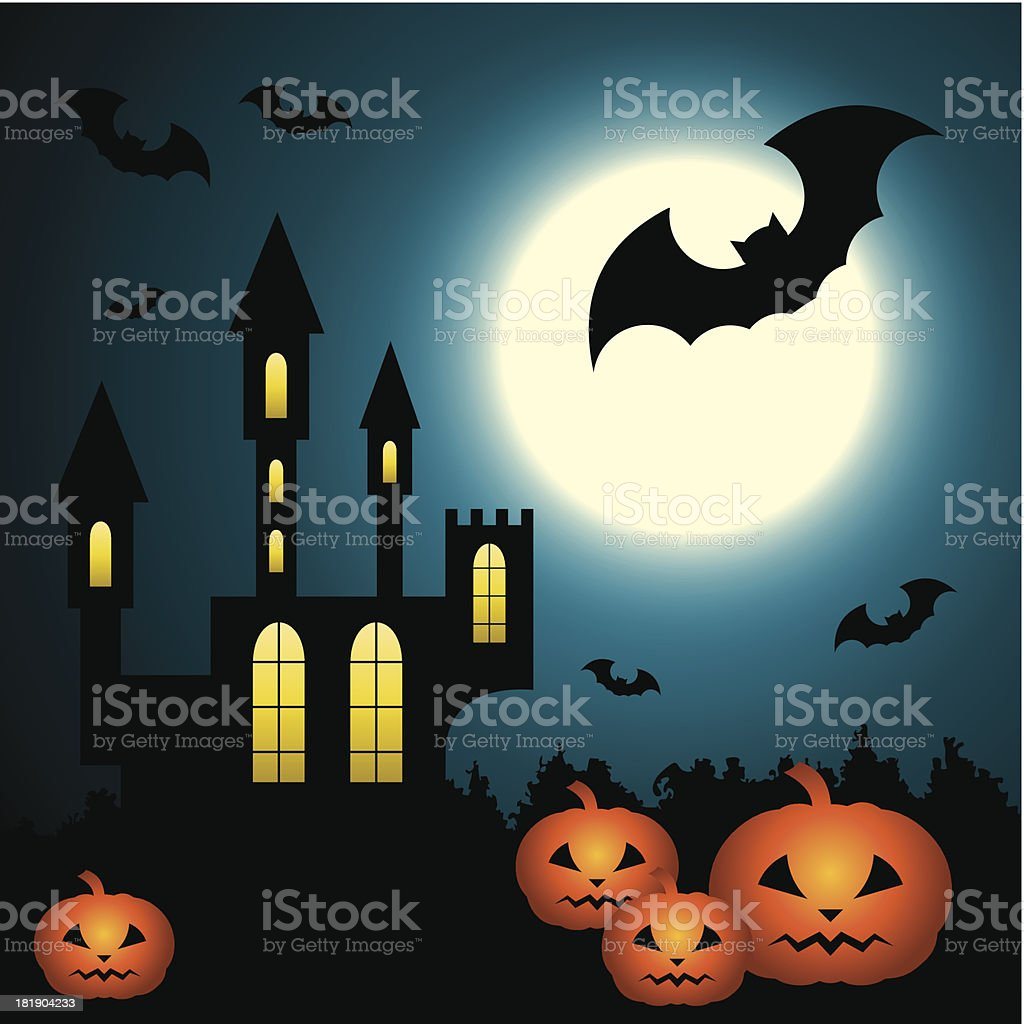 Halloween Scenery royalty-free stock vector art