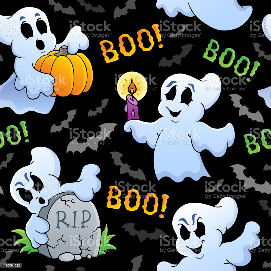 Halloween seamless background 4 royalty-free stock vector art