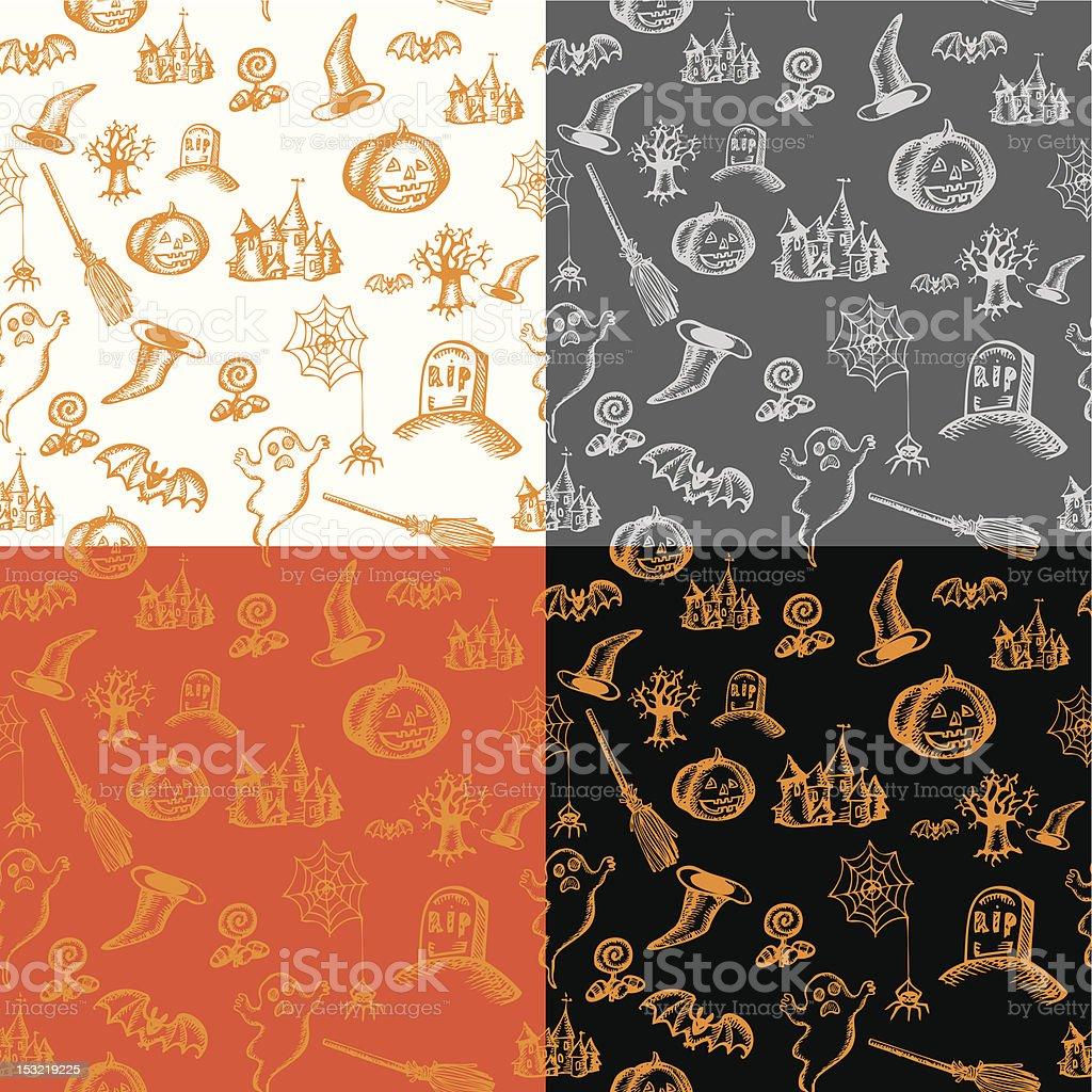 halloween seamless background royalty-free stock vector art
