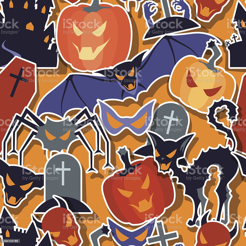 Halloween seamless pattern. royalty-free stock vector art