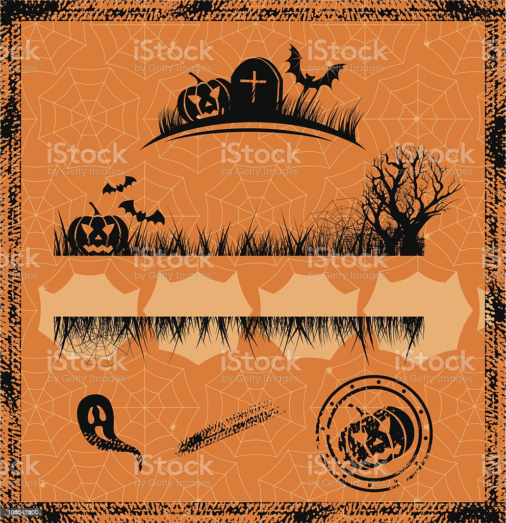 halloween set of design elements royalty-free stock vector art