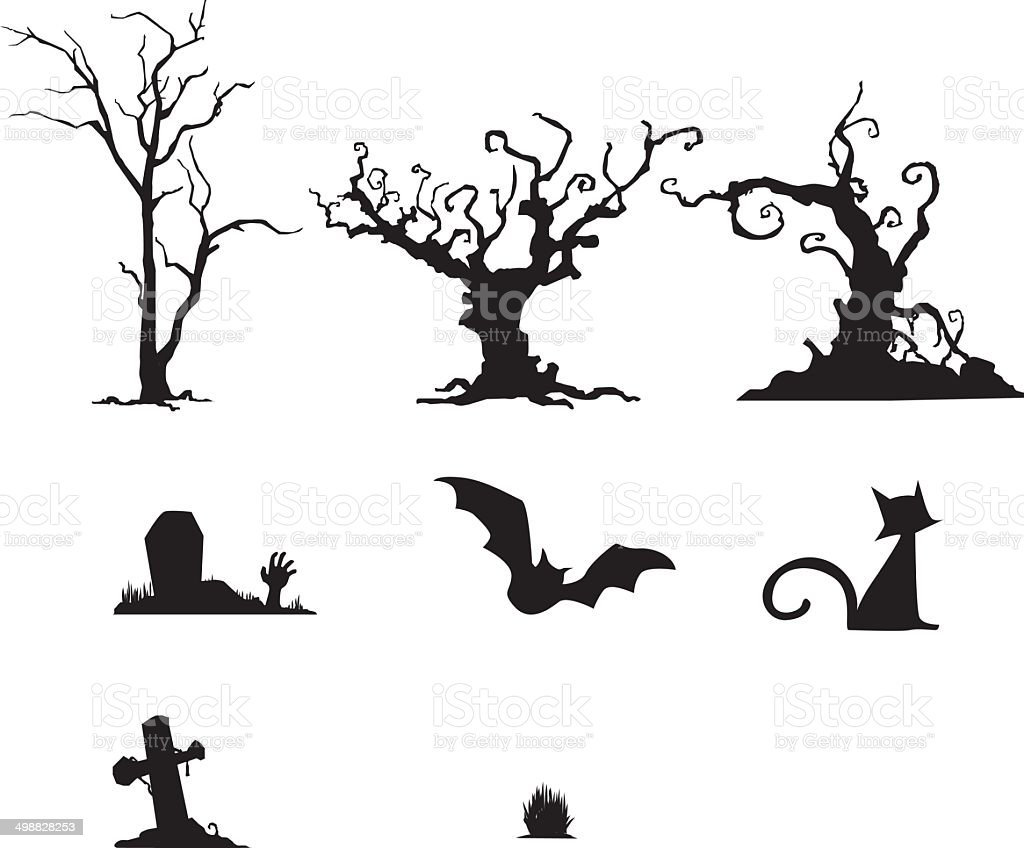 halloween set royalty-free stock vector art