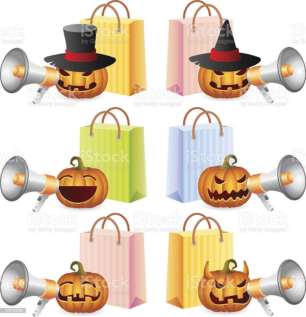 Halloween shopping royalty-free stock vector art