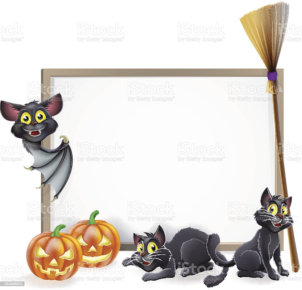 Halloween sign background royalty-free stock vector art