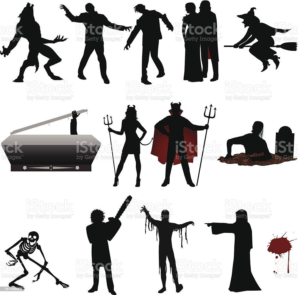 Halloween Silhouette vector art illustration