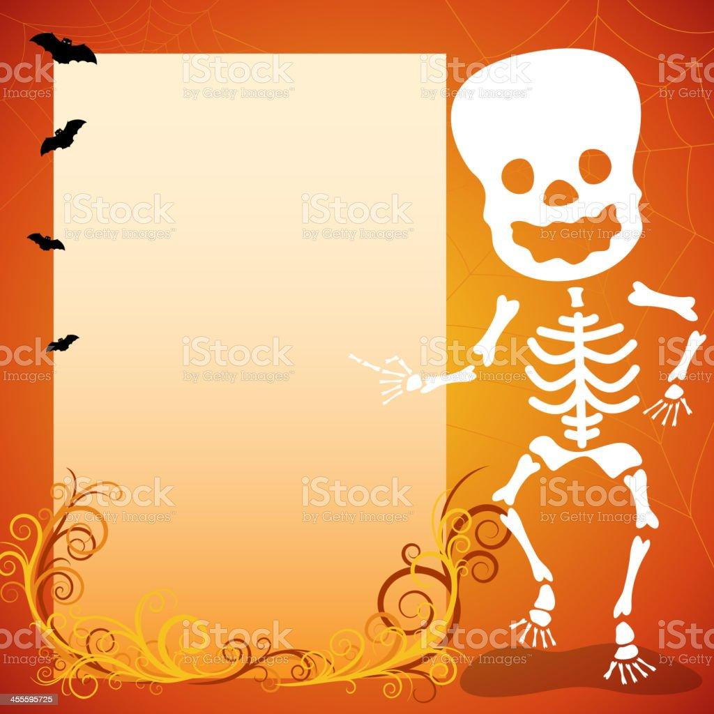 Halloween Skeleton Notice royalty-free stock vector art