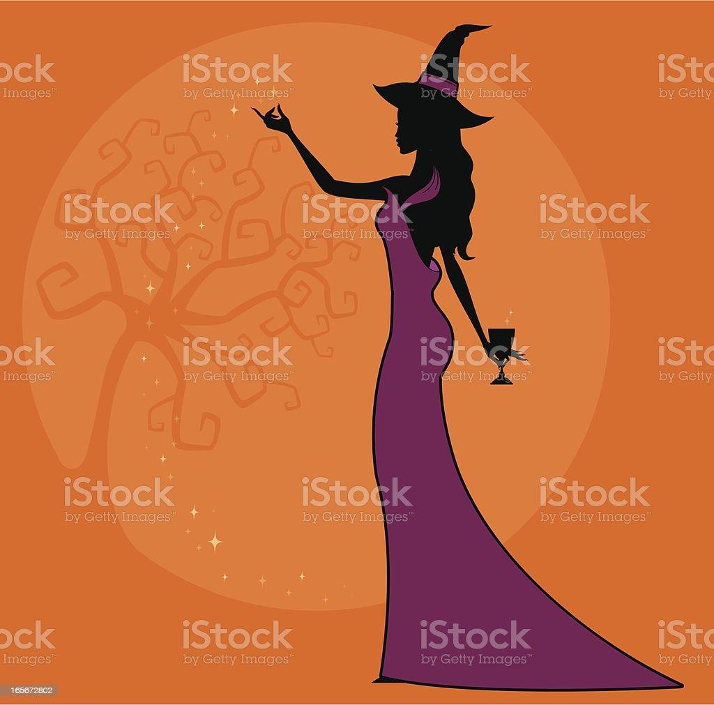 Halloween Sorcery royalty-free stock vector art