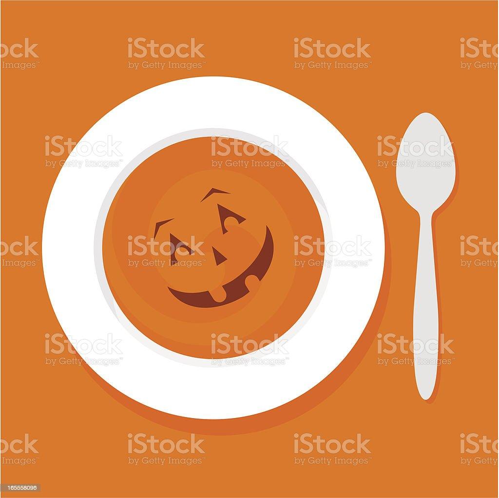 Halloween soup vector art illustration
