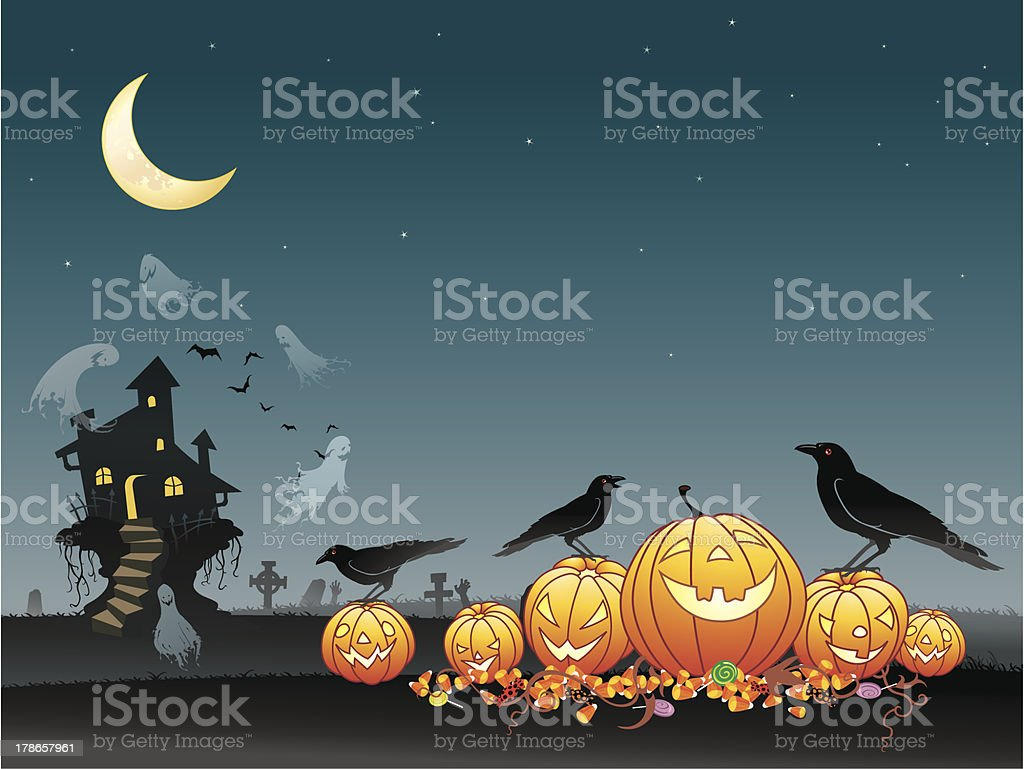 Halloween Spooky Background royalty-free stock vector art