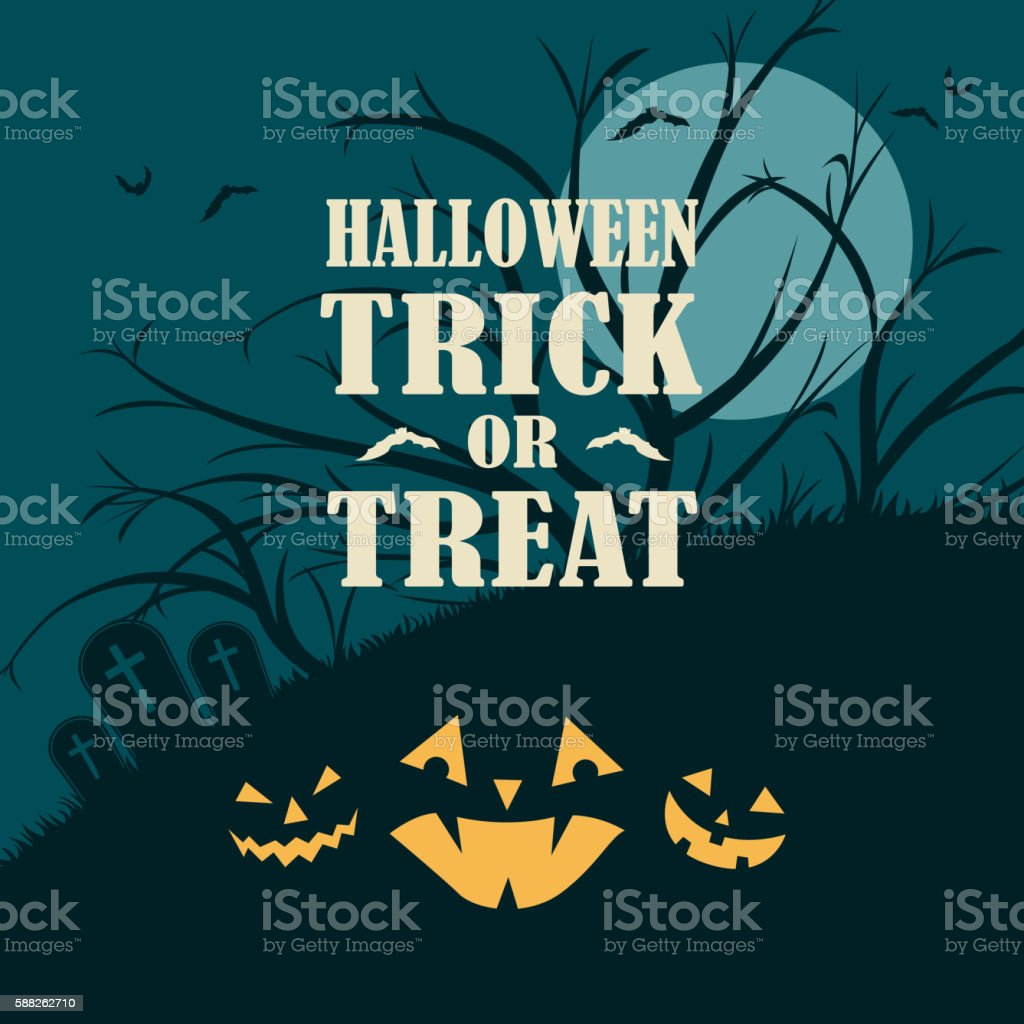 Halloween Spooky Night vector art illustration