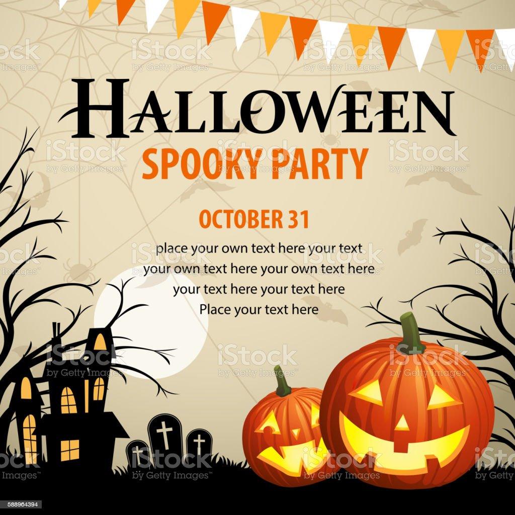 Halloween Spooky Party vector art illustration