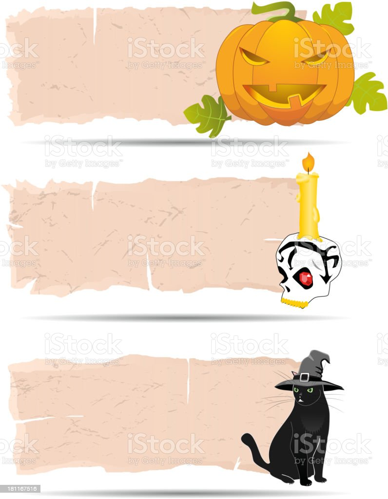 Halloween sticker vector royalty-free stock vector art