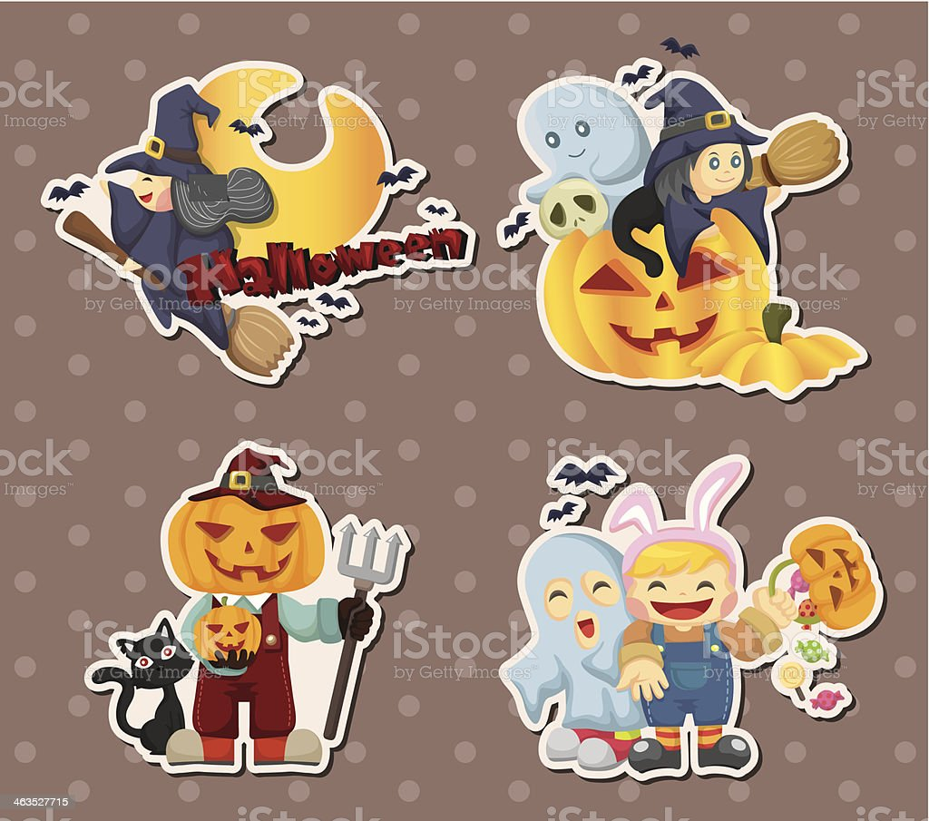 Halloween stickers royalty-free stock vector art