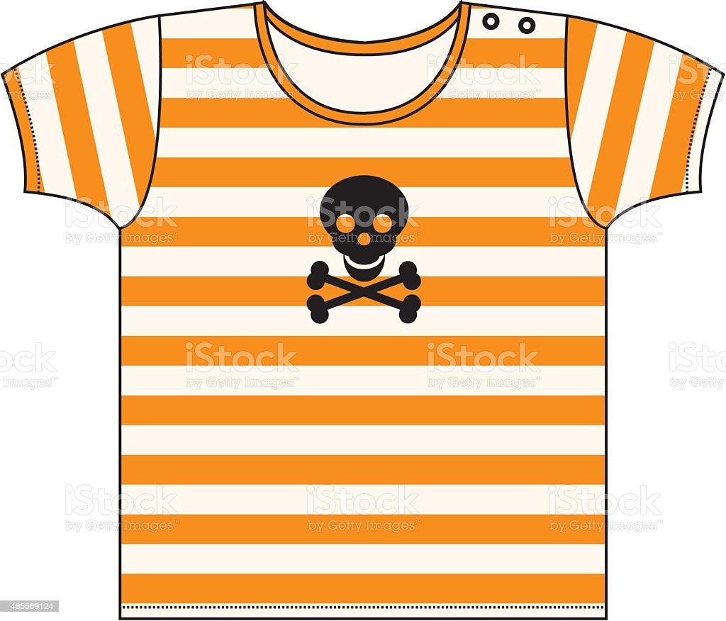 Halloween Striped T-shirt vector art illustration