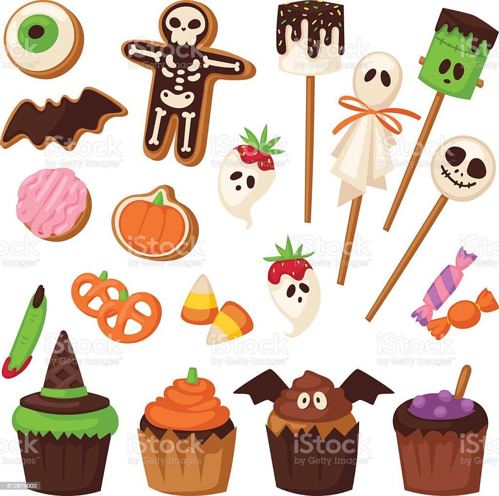 Halloween symbols vector collection. vector art illustration