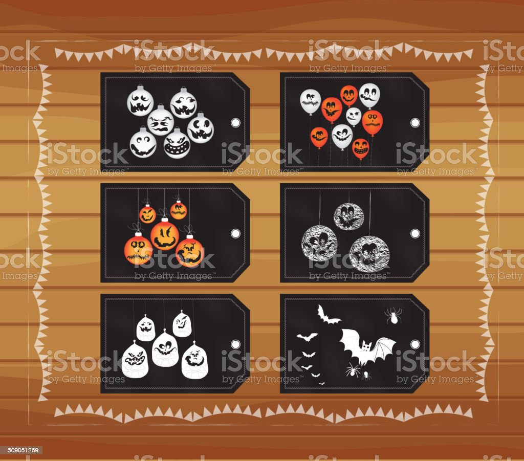 halloween tags royalty-free stock vector art