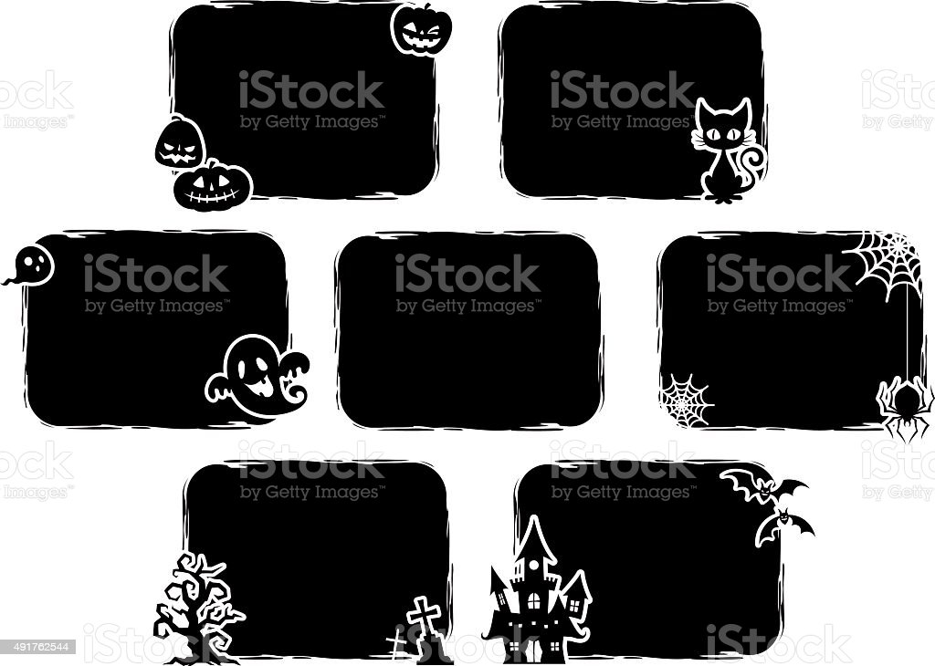 Halloween. The black and square design. vector art illustration