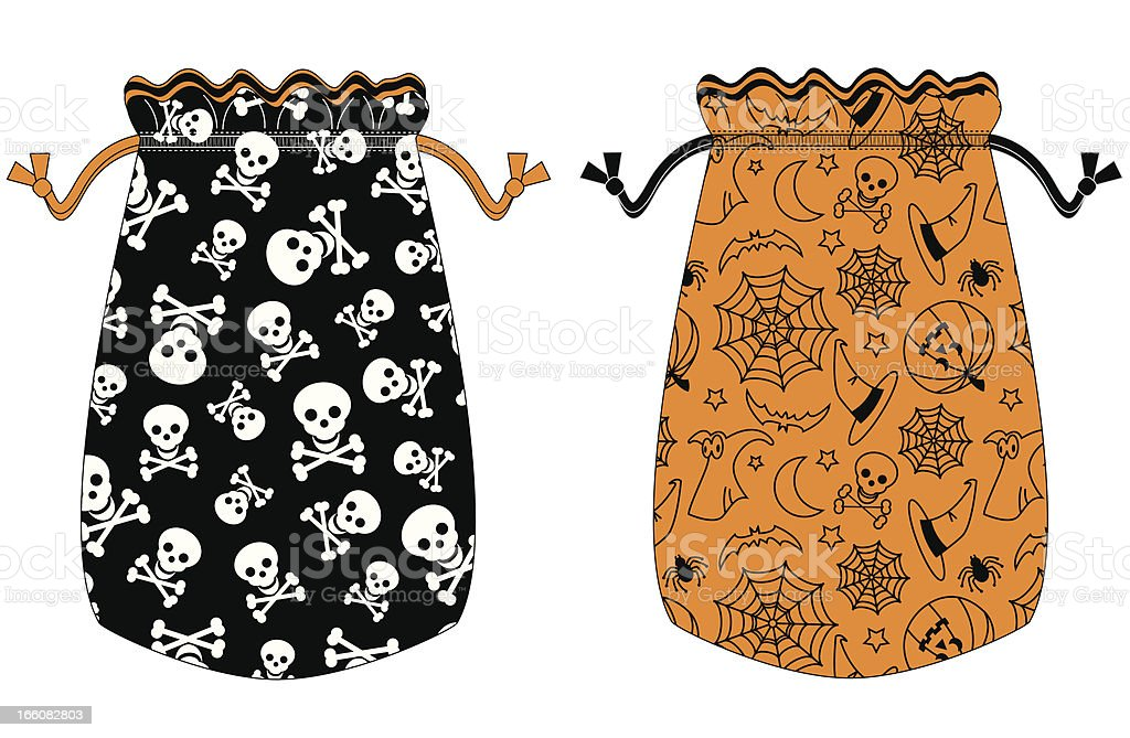 Halloween Trick or Treat Drawstring Bag vector art illustration