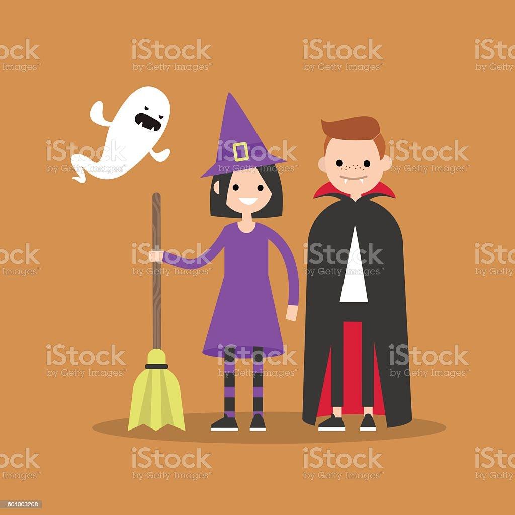 Halloween. Trick or treat set vector art illustration