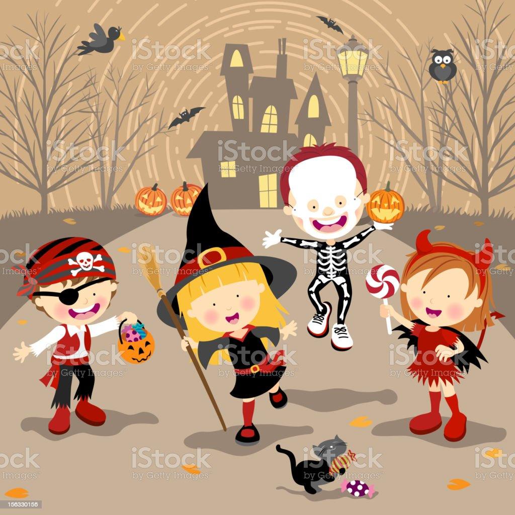 Halloween Trick or Treat royalty-free stock vector art