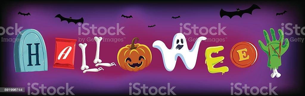 Halloween Typo, Typeface, vector, Illustration vector art illustration