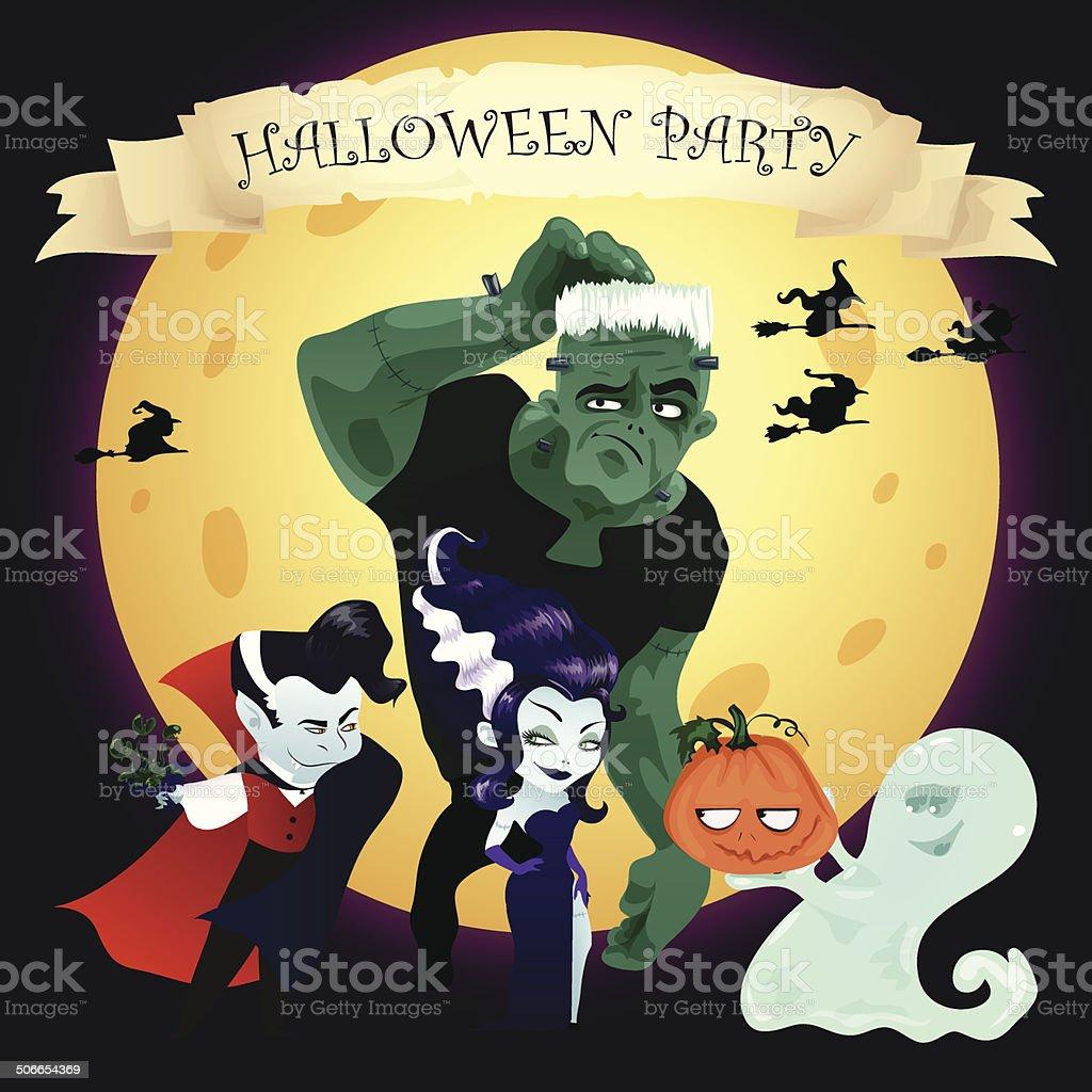 Halloween vector banner vector art illustration