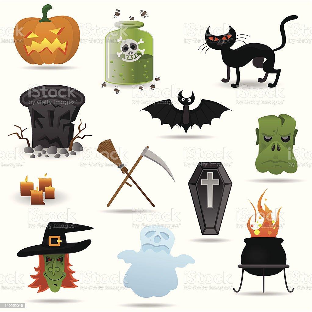 Halloween vector icons set royalty-free stock vector art