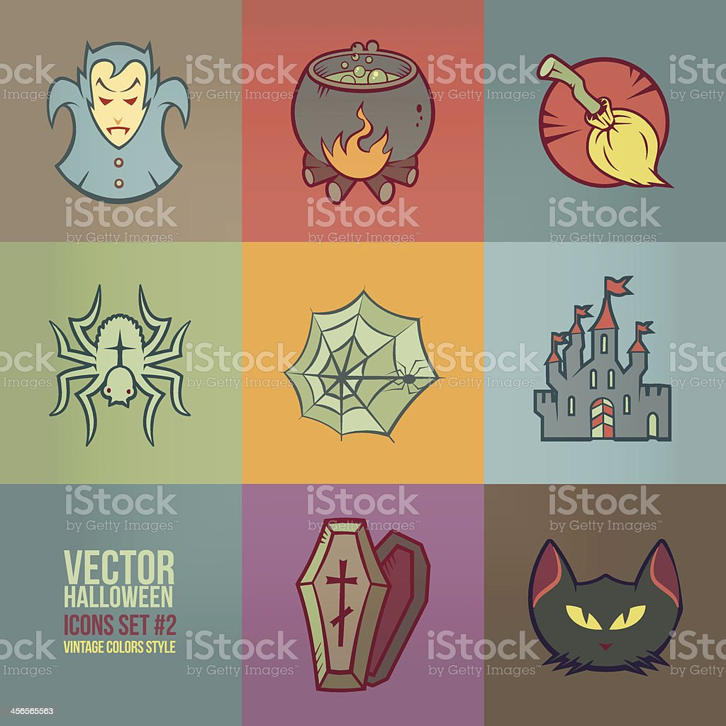 Halloween Vector Icons Set vector art illustration