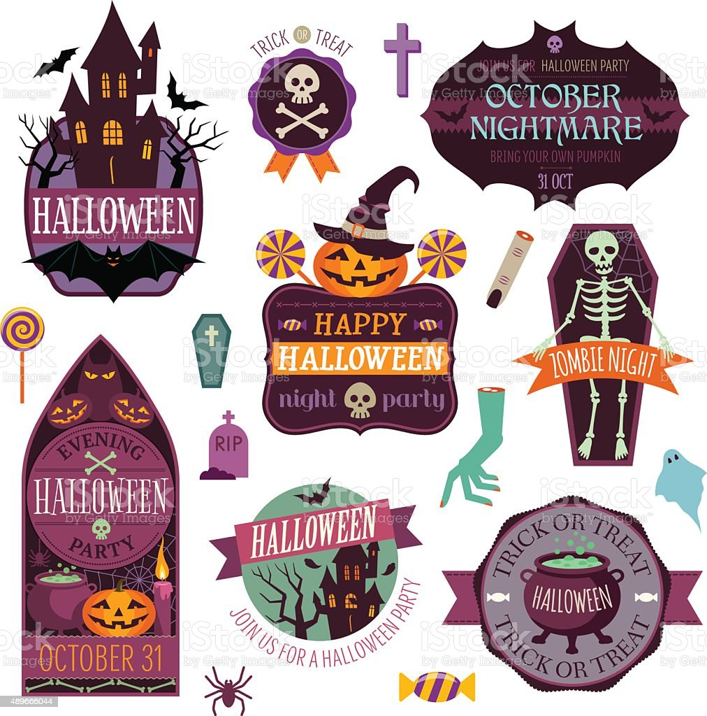 Halloween vector art illustration