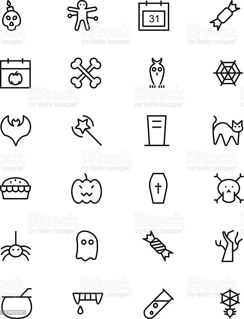Halloween Vector Line Icons 1 vector art illustration
