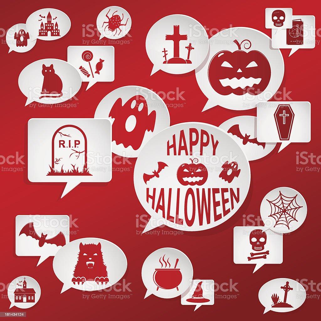 Halloween vector set of design elements. royalty-free stock vector art