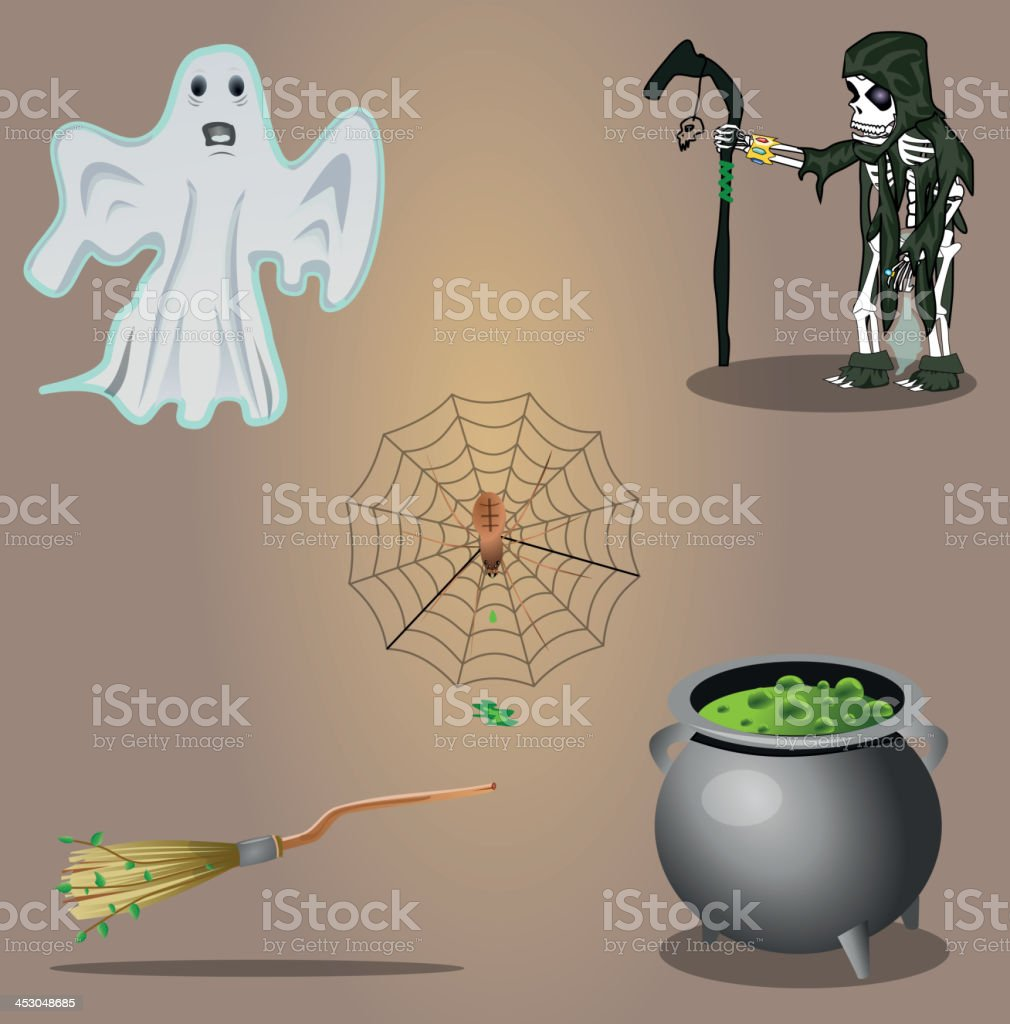 Halloween vector set royalty-free stock vector art