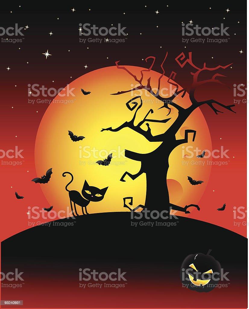 Halloween wallpaper royalty-free stock vector art